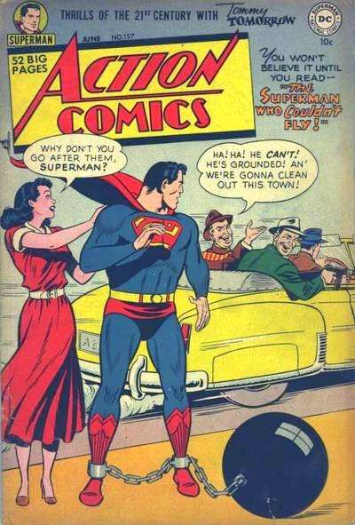 Action Comics #157 comic books - cover scans photos Action Comics #157 comic books - covers, picture gallery