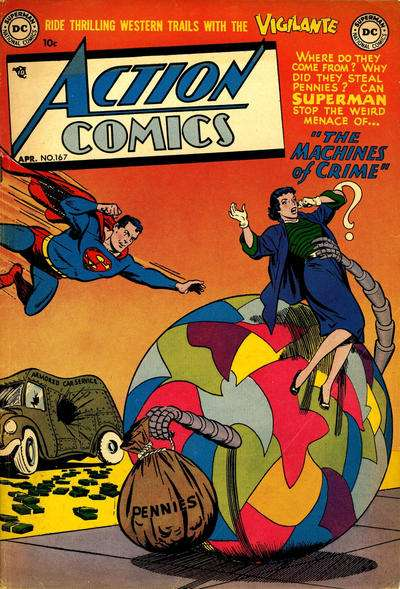 Action Comics #167 Comic Books - Covers, Scans, Photos  in Action Comics Comic Books - Covers, Scans, Gallery