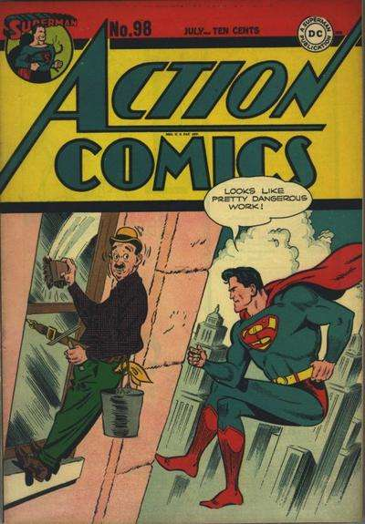 Action Comics #98 comic books - cover scans photos Action Comics #98 comic books - covers, picture gallery