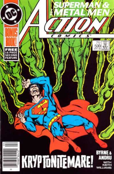 Action Comics #599 comic books - cover scans photos Action Comics #599 comic books - covers, picture gallery