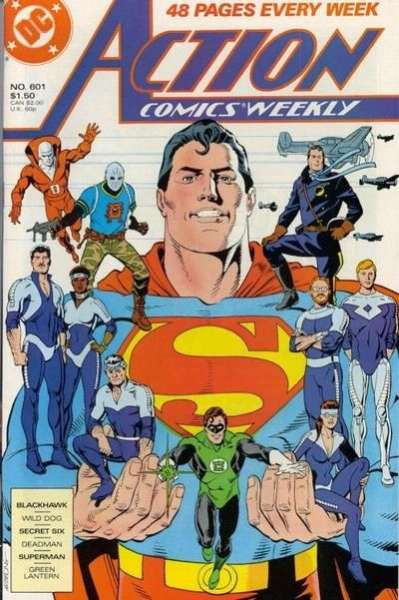 Action Comics #601 Comic Books - Covers, Scans, Photos  in Action Comics Comic Books - Covers, Scans, Gallery