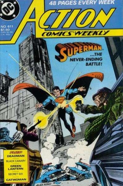 Action Comics #611 Comic Books - Covers, Scans, Photos  in Action Comics Comic Books - Covers, Scans, Gallery