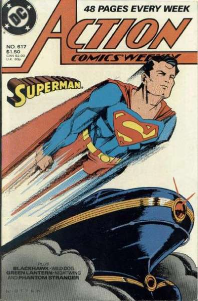 Action Comics #617 Comic Books - Covers, Scans, Photos  in Action Comics Comic Books - Covers, Scans, Gallery