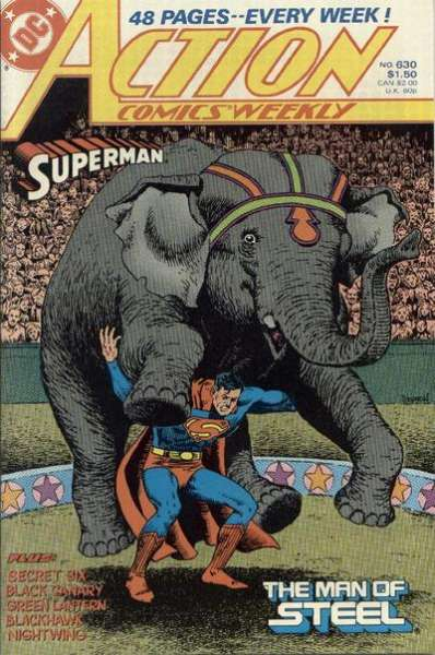 Action Comics #630 Comic Books - Covers, Scans, Photos  in Action Comics Comic Books - Covers, Scans, Gallery