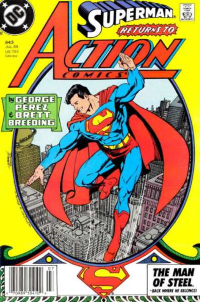 Action Comics #643 comic books - cover scans photos Action Comics #643 comic books - covers, picture gallery