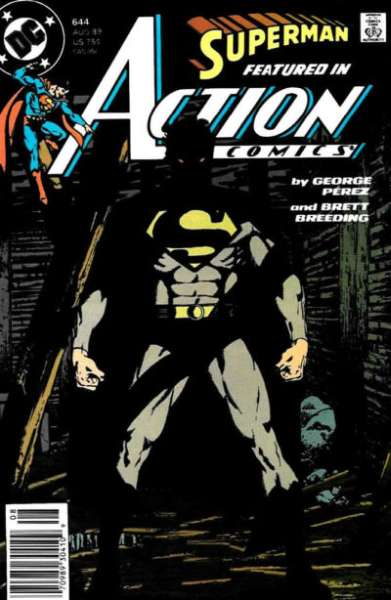 Action Comics #644 comic books - cover scans photos Action Comics #644 comic books - covers, picture gallery