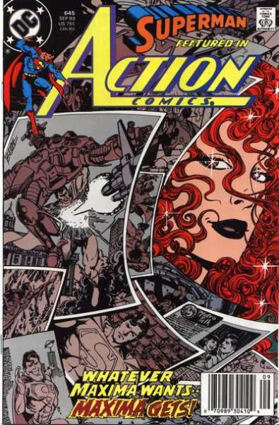 Action Comics #645 Comic Books - Covers, Scans, Photos  in Action Comics Comic Books - Covers, Scans, Gallery