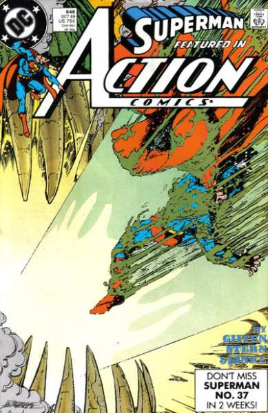 Action Comics #646 comic books - cover scans photos Action Comics #646 comic books - covers, picture gallery
