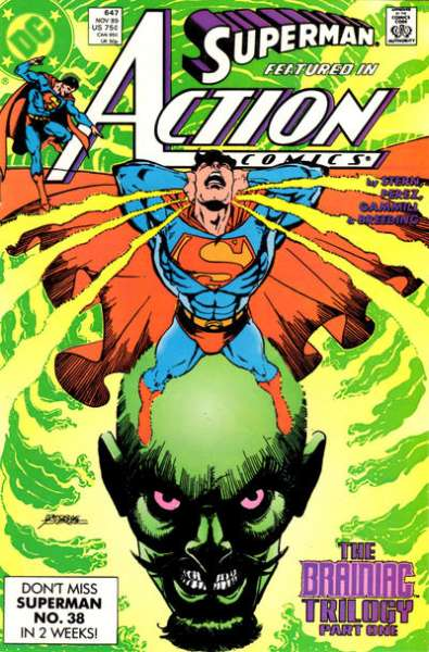 Action Comics #647 Comic Books - Covers, Scans, Photos  in Action Comics Comic Books - Covers, Scans, Gallery