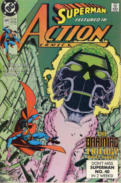 Action Comics #649 comic books - cover scans photos Action Comics #649 comic books - covers, picture gallery
