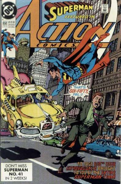 Action Comics #650 comic books - cover scans photos Action Comics #650 comic books - covers, picture gallery