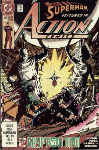 Action Comics #652 comic books - cover scans photos Action Comics #652 comic books - covers, picture gallery