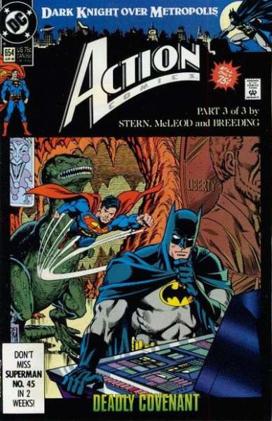 Action Comics #654 comic books - cover scans photos Action Comics #654 comic books - covers, picture gallery