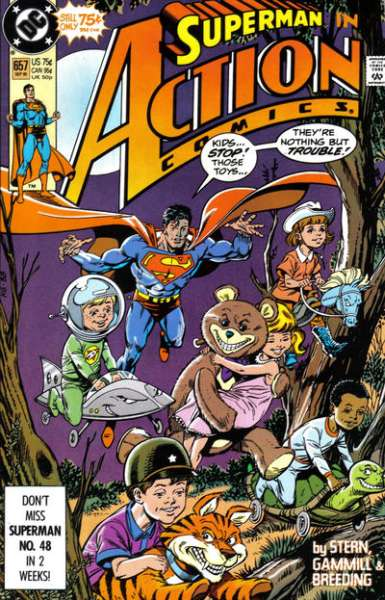 Action Comics #657 comic books - cover scans photos Action Comics #657 comic books - covers, picture gallery