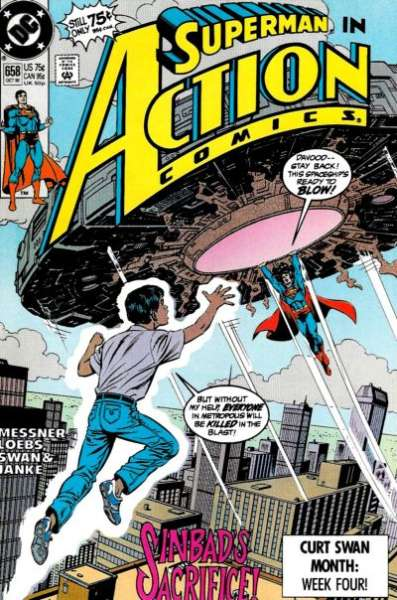 Action Comics #658 Comic Books - Covers, Scans, Photos  in Action Comics Comic Books - Covers, Scans, Gallery
