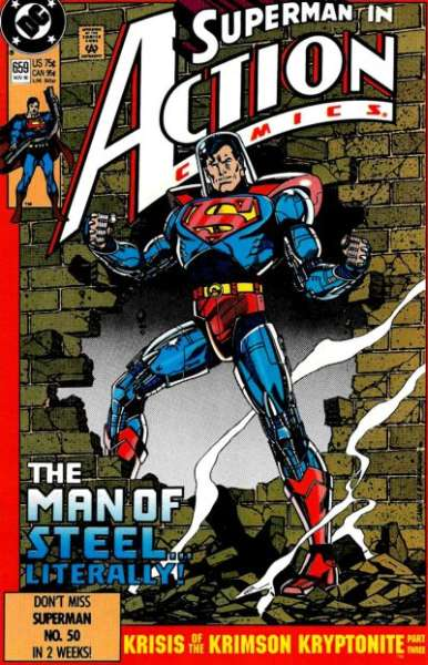 Action Comics #659 Comic Books - Covers, Scans, Photos  in Action Comics Comic Books - Covers, Scans, Gallery