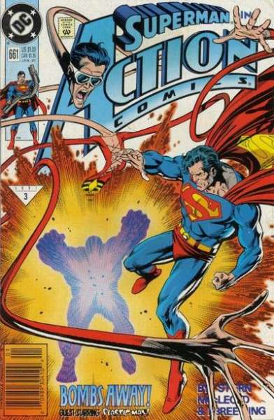 Action Comics #661 comic books - cover scans photos Action Comics #661 comic books - covers, picture gallery