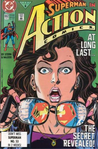 Action Comics #662 comic books - cover scans photos Action Comics #662 comic books - covers, picture gallery