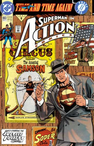Action Comics #663 comic books - cover scans photos Action Comics #663 comic books - covers, picture gallery