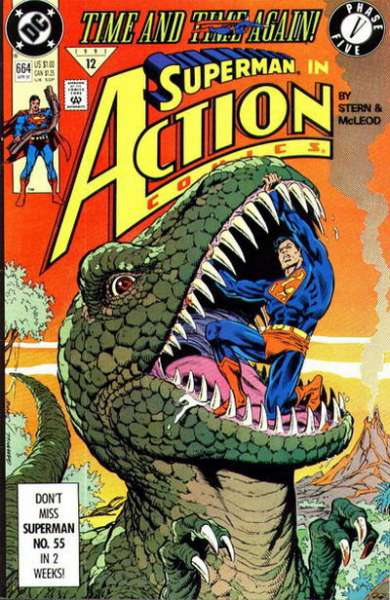 Action Comics #664 Comic Books - Covers, Scans, Photos  in Action Comics Comic Books - Covers, Scans, Gallery