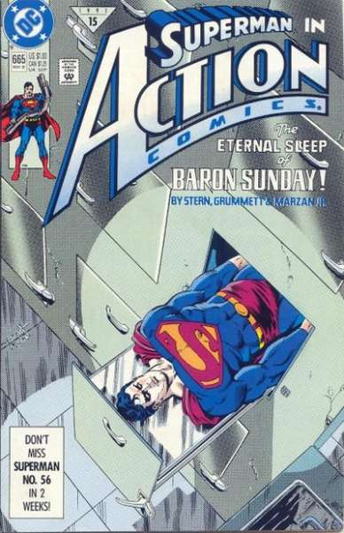 Action Comics #665 Comic Books - Covers, Scans, Photos  in Action Comics Comic Books - Covers, Scans, Gallery