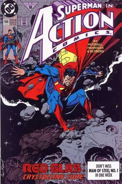 Action Comics #666 Comic Books - Covers, Scans, Photos  in Action Comics Comic Books - Covers, Scans, Gallery