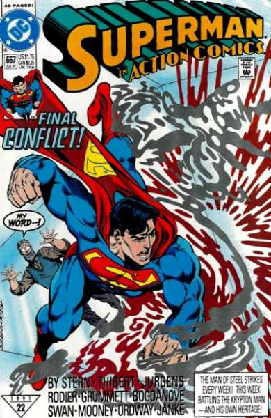 Action Comics #667 Comic Books - Covers, Scans, Photos  in Action Comics Comic Books - Covers, Scans, Gallery