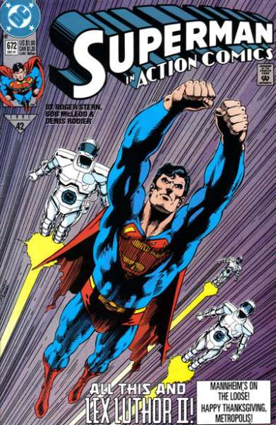 Action Comics #672 comic books - cover scans photos Action Comics #672 comic books - covers, picture gallery