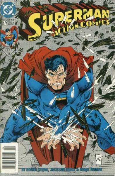Action Comics #676 Comic Books - Covers, Scans, Photos  in Action Comics Comic Books - Covers, Scans, Gallery