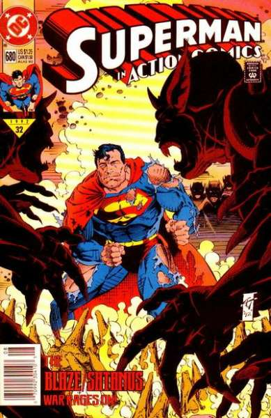 Action Comics #680 Comic Books - Covers, Scans, Photos  in Action Comics Comic Books - Covers, Scans, Gallery