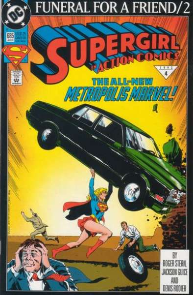 Action Comics #685 Comic Books - Covers, Scans, Photos  in Action Comics Comic Books - Covers, Scans, Gallery