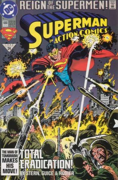 Action Comics #690 Comic Books - Covers, Scans, Photos  in Action Comics Comic Books - Covers, Scans, Gallery