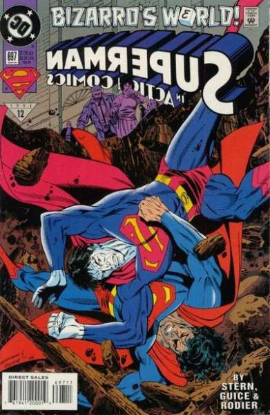 Action Comics #697 comic books - cover scans photos Action Comics #697 comic books - covers, picture gallery