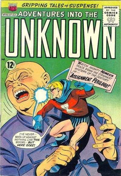 Adventures into the Unknown #160 comic books - cover scans photos Adventures into the Unknown #160 comic books - covers, picture gallery