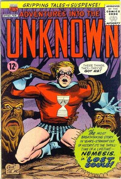 Adventures into the Unknown #162 comic books - cover scans photos Adventures into the Unknown #162 comic books - covers, picture gallery