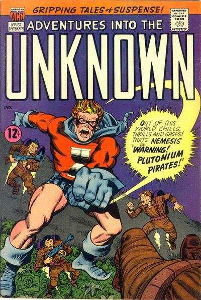 Adventures into the Unknown #167 comic books - cover scans photos Adventures into the Unknown #167 comic books - covers, picture gallery