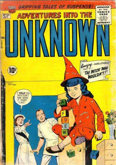 Adventures into the Unknown #101 Comic Books - Covers, Scans, Photos  in Adventures into the Unknown Comic Books - Covers, Scans, Gallery