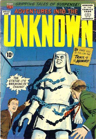 Adventures into the Unknown #102 Comic Books - Covers, Scans, Photos  in Adventures into the Unknown Comic Books - Covers, Scans, Gallery