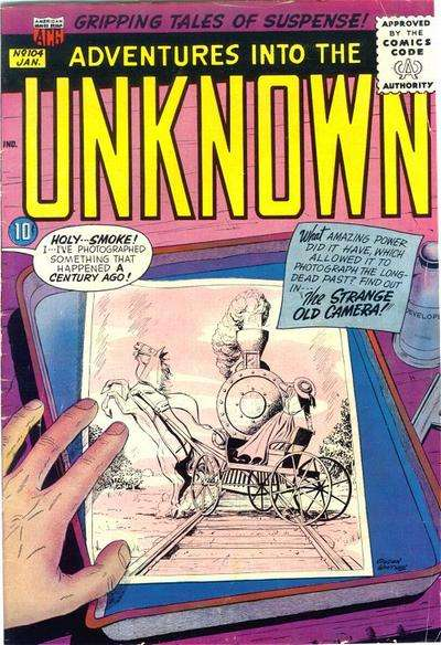 Adventures into the Unknown #104 Comic Books - Covers, Scans, Photos  in Adventures into the Unknown Comic Books - Covers, Scans, Gallery