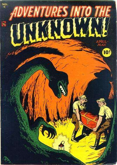 Adventures into the Unknown #4 Comic Books - Covers, Scans, Photos  in Adventures into the Unknown Comic Books - Covers, Scans, Gallery