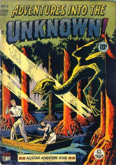 Adventures into the Unknown #5 Comic Books - Covers, Scans, Photos  in Adventures into the Unknown Comic Books - Covers, Scans, Gallery