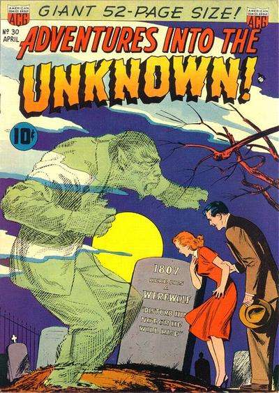 Adventures into the Unknown #30 comic books - cover scans photos Adventures into the Unknown #30 comic books - covers, picture gallery