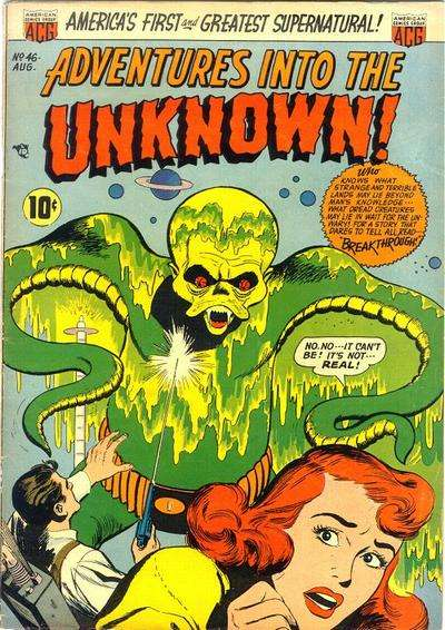 Adventures into the Unknown #46 Comic Books - Covers, Scans, Photos  in Adventures into the Unknown Comic Books - Covers, Scans, Gallery