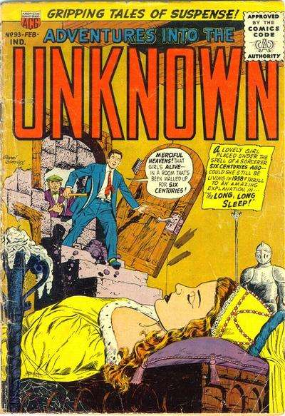 Adventures into the Unknown #93 Comic Books - Covers, Scans, Photos  in Adventures into the Unknown Comic Books - Covers, Scans, Gallery
