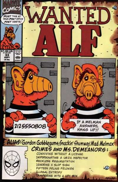 Alf #33 Comic Books - Covers, Scans, Photos  in Alf Comic Books - Covers, Scans, Gallery