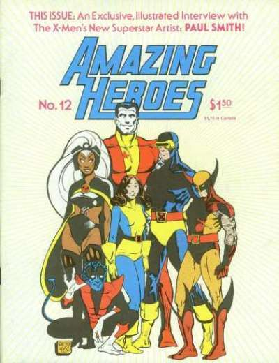 Amazing Heroes #12 Comic Books - Covers, Scans, Photos  in Amazing Heroes Comic Books - Covers, Scans, Gallery
