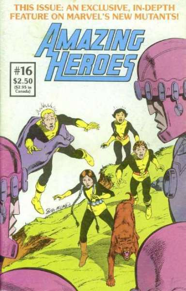 Amazing Heroes #16 Comic Books - Covers, Scans, Photos  in Amazing Heroes Comic Books - Covers, Scans, Gallery