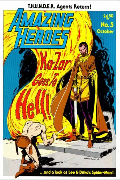Amazing Heroes #5 comic books - cover scans photos Amazing Heroes #5 comic books - covers, picture gallery