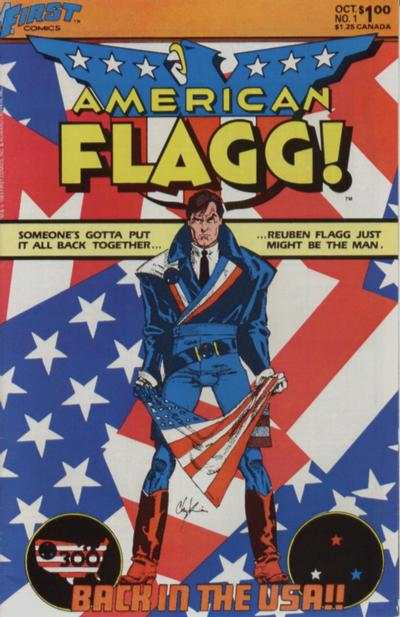 American Flagg! #1 comic books - cover scans photos American Flagg! #1 comic books - covers, picture gallery