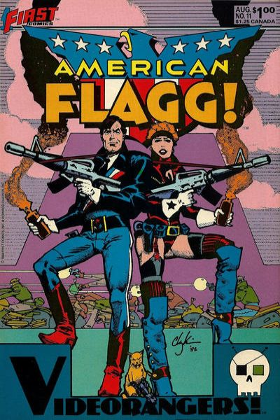 American Flagg! #11 comic books - cover scans photos American Flagg! #11 comic books - covers, picture gallery